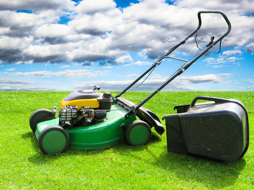 Nature, Meadow, Grass, Rush, Lawn Mower, Clouds, Green