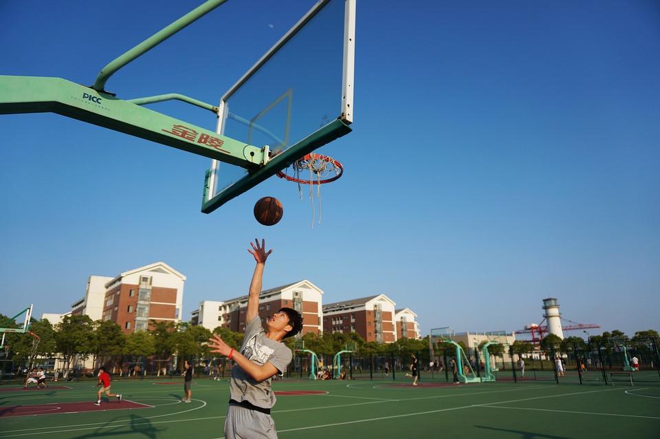 Layup, Basketball, Dunk, Blue, Game, Basket, Player