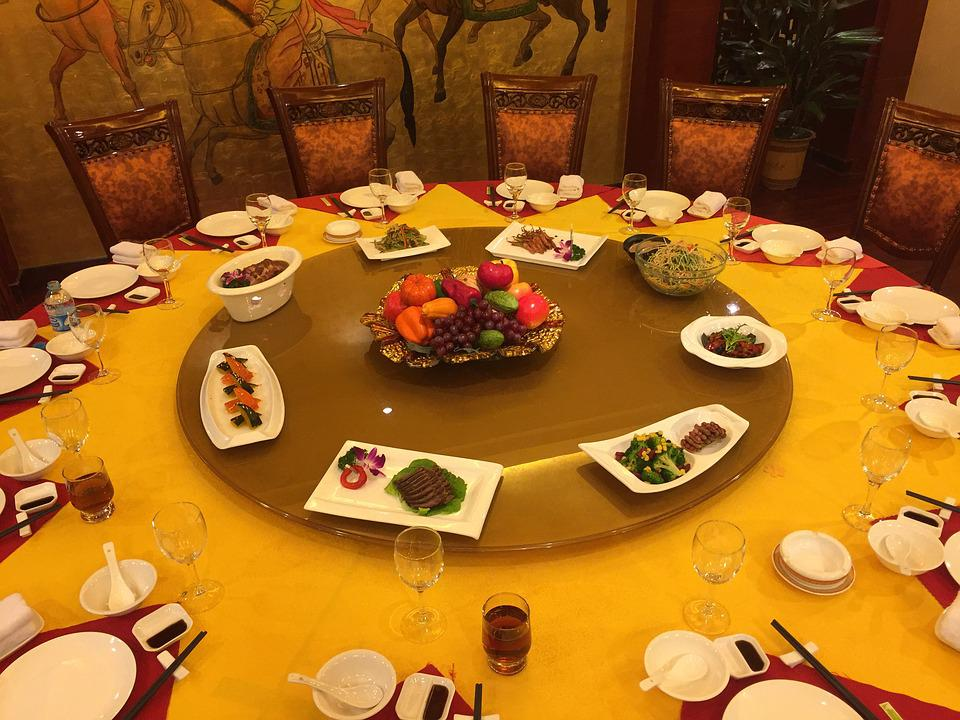 dinner china table lazy susan meal chinese