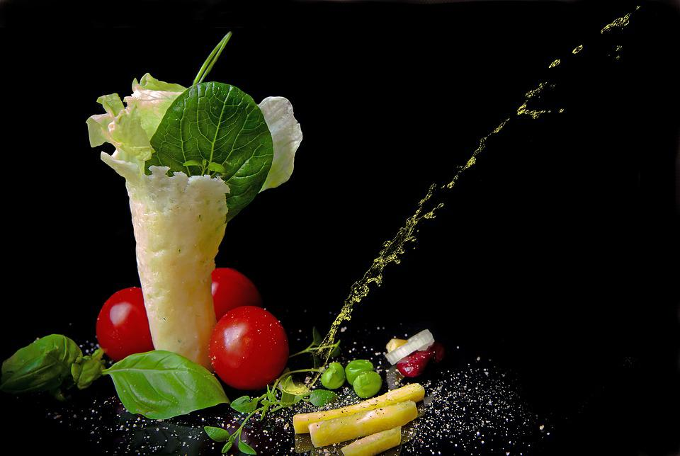 Food Photography, Salad, Leaf Lettuce, Japanese Spinach