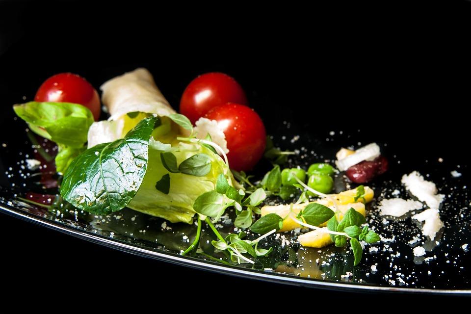 Salad, Leaf Lettuce, Japanese Spinach, Parmesan