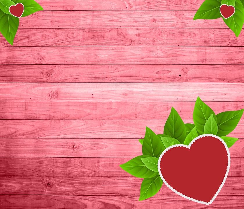 Wood, Love, Leaf, Heart, Texture, Background