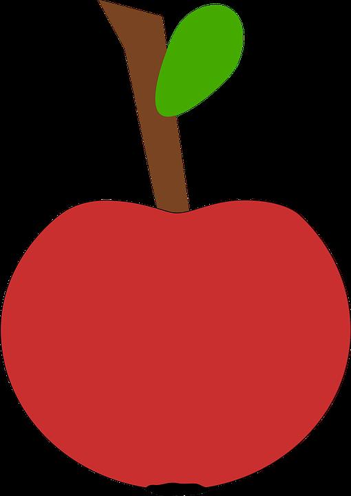 Apple, Fruit, Red, Leaf, Red Apple, Red Leaf
