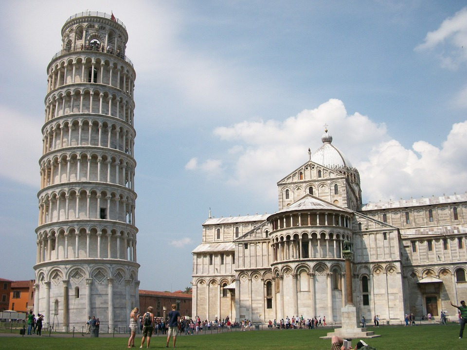 Italy, Pisa, Leaning Tower, City