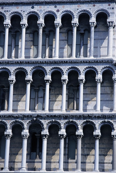 Pisa, Leaning Tower, Columnar, Italy, Tuscany