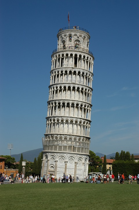 Leaning Tower, Pisa, Italy, Tower, Famous Place, Europe
