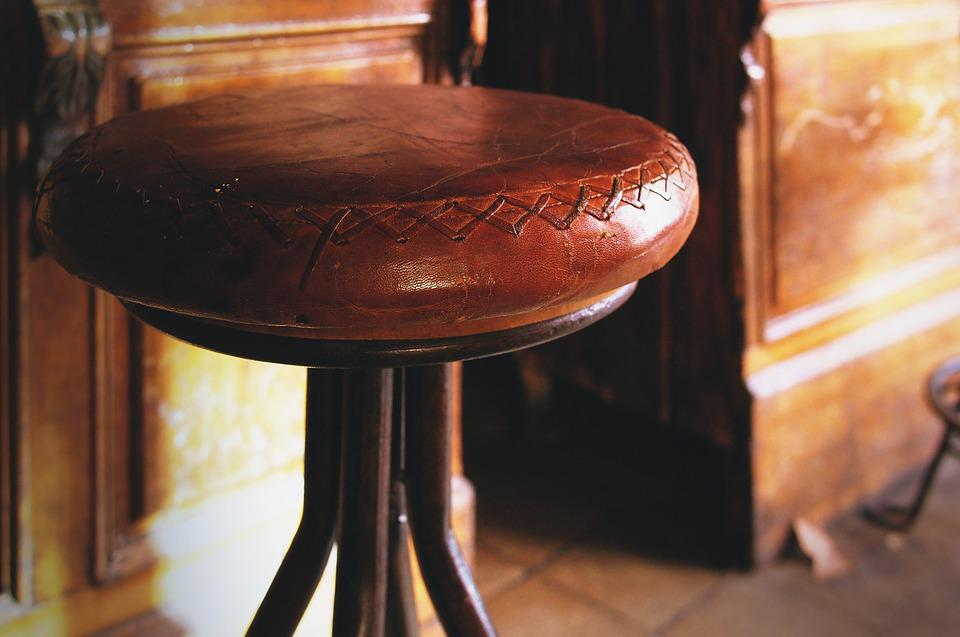 Bar Chair Leather Old