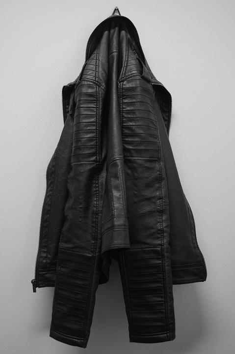 Jacket, Leather Coat, Clothing, Coat Hanger