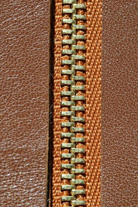 Zip, Macro, Bag, Leather Craft, Craft, Gold, Brass