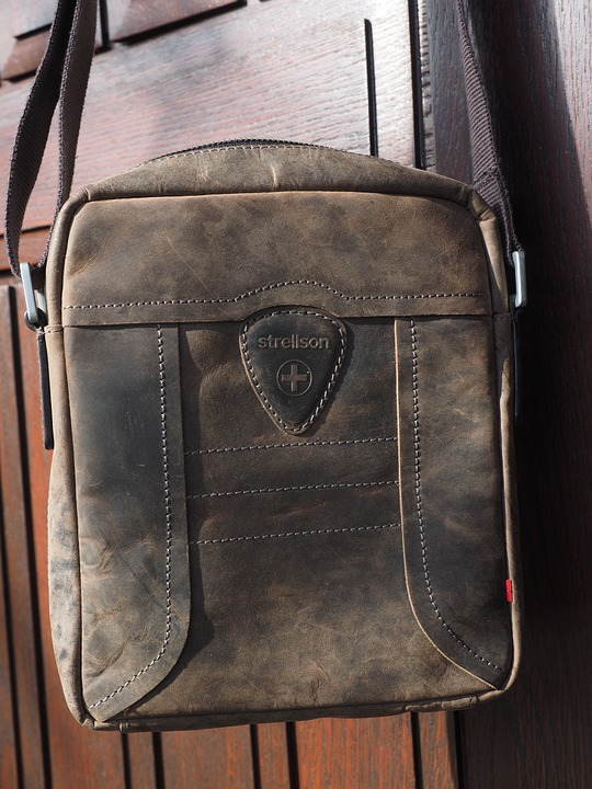 Bag, Leather Case, Leather, Strellson