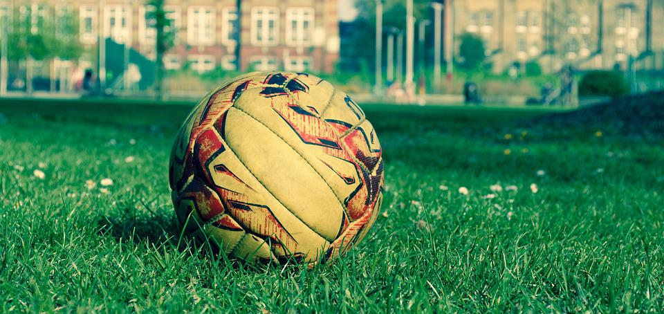 Soccer Ball, Round, Recreation, Green, Leather, Sport