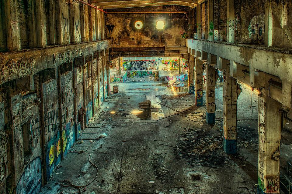 Lost Places, Factory, Hall, Leave, Pforphoto, Lapsed