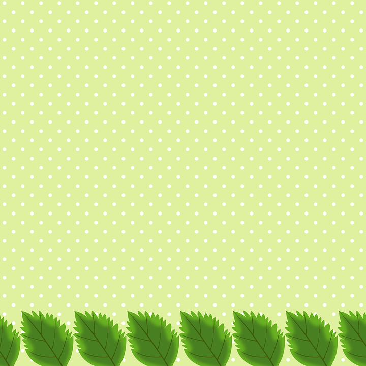 Leaves, Background, Points, Nature, Green, Decorative