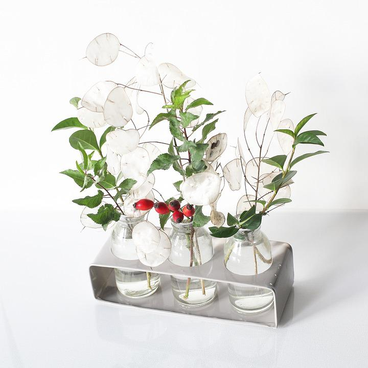 Free Photo Leaves Silver Leaf Green Vase Red White Rose Hip Max Pixel