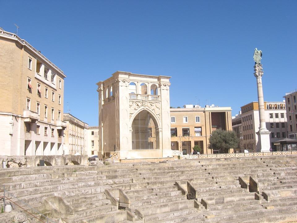 Lecce, Amphitheatre, Seat, Piazza Sant'oronzo