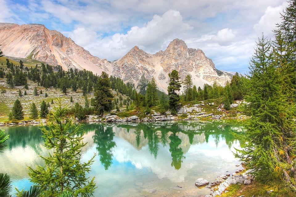Lech Le Vert, Dolomites, Bergsee, Alm, Nature, Blue