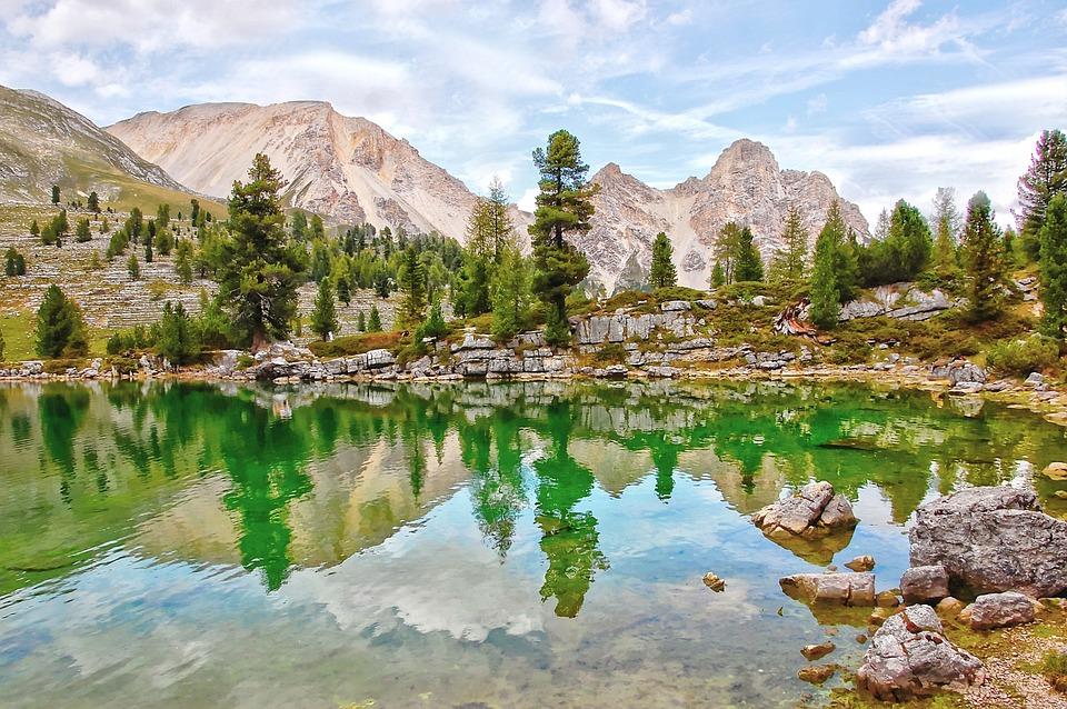 Lech Le Vert, Bergsee, Alm, Nature, Blue, Lake