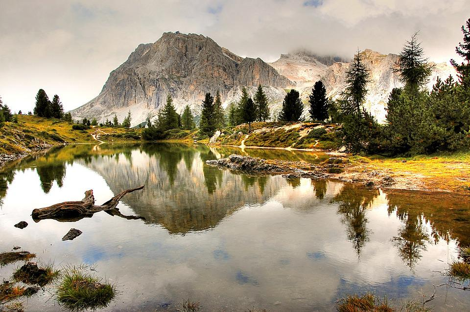 Lech Limides, Dolomites, Alm, Nature, Blue, Lake