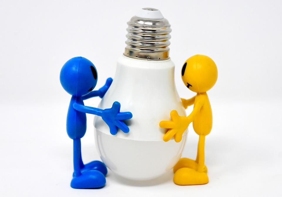 Energiesparlampe, Led, Figures, Funny, Bulbs, Lamp