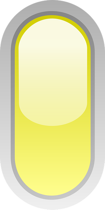 Rounded, Yellow, Led, Signs, Button