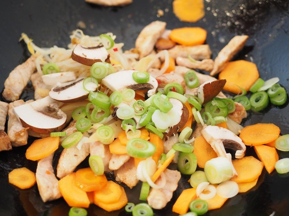 Vegetables, Vegetable Pan, Carrots, Leek, Mushrooms