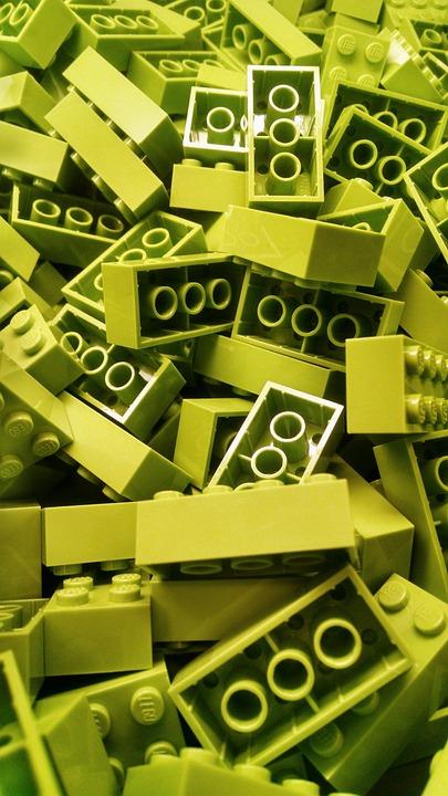 Lego, Building Block, Blocks, Green, Colorful, Color
