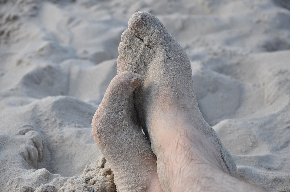 Feet, Legs, Sand, Feet In The Sand, Relaxation, Rest