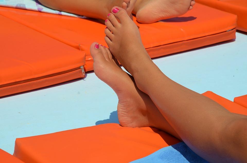 Feet, Legs, Barefoot, Summer, Foot, Female, Beach