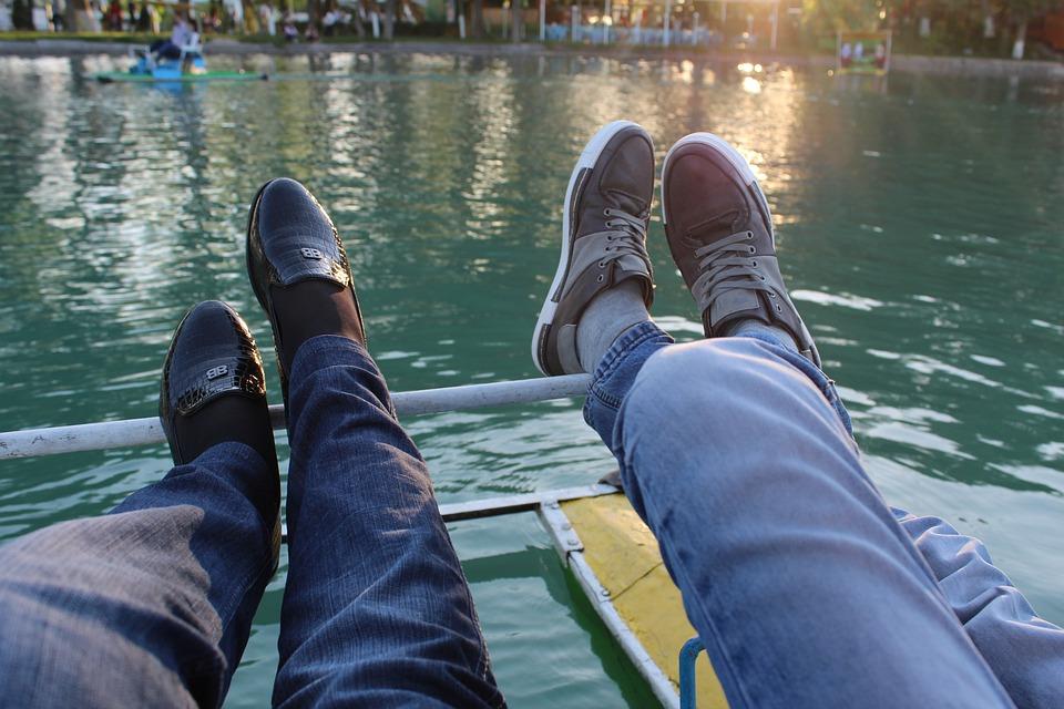 Shoes, Legs, Couple, Friends, Man, Girl, Guy, Sneakers