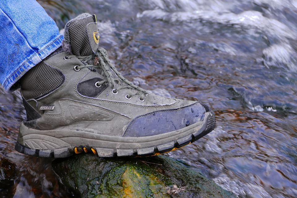 Hiking, Shoes, Water, Waterfall, Legs, Outdoor