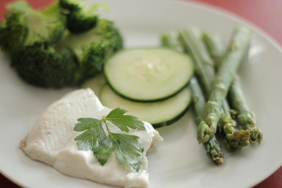 Fish, Steam, Diet, Legumes, Vegetables