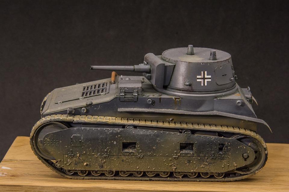 Scale Model, Tank, Leichttraktor, Miniature