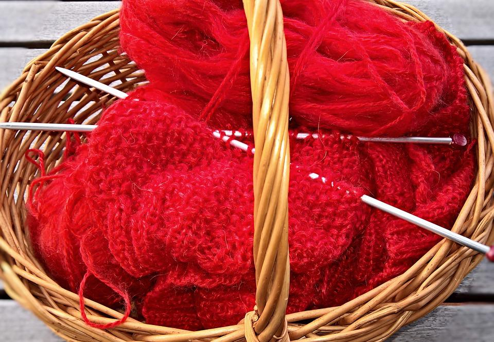 Wool, Basket, Knit, Hand Labor, Hobby, Leisure Activity