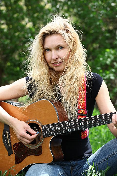 Woman, Guitar, Instrument, Female, Leisure, Musical