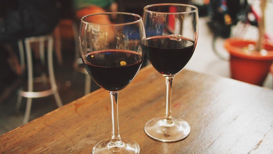 Wine, Glasses, Outdoor, Cafe, Restaurant, Leisure