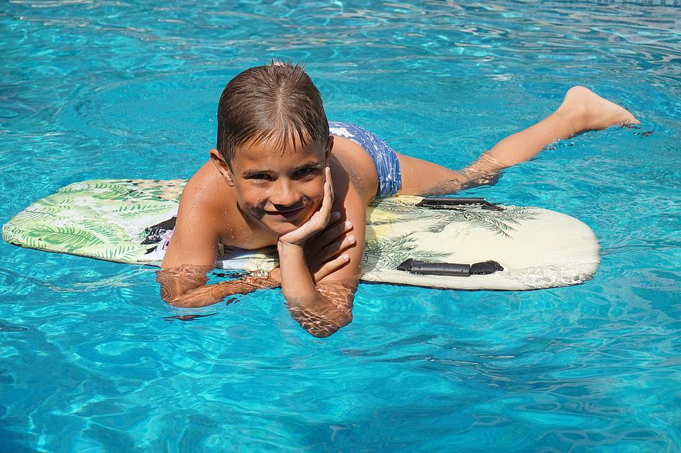 Boy, Surfboard, Water, Pool, Water Sports, Leisure