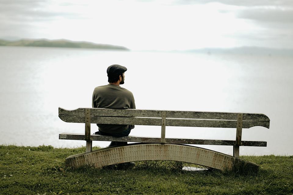 Bench, Man, Lake, Sitting, Leisure, Relaxation, Seat