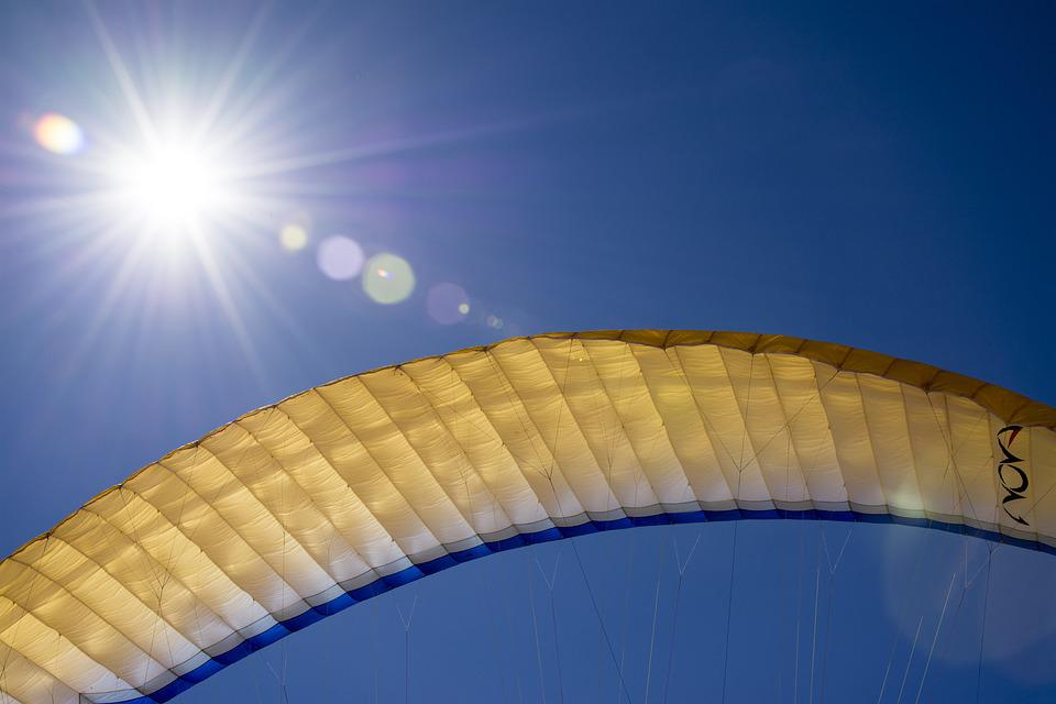 Paragliding, Sky, Sun, Leisure, Freedom, Skydiving