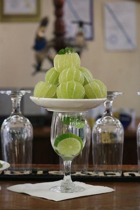 Glass, Drink, Food, Lemon