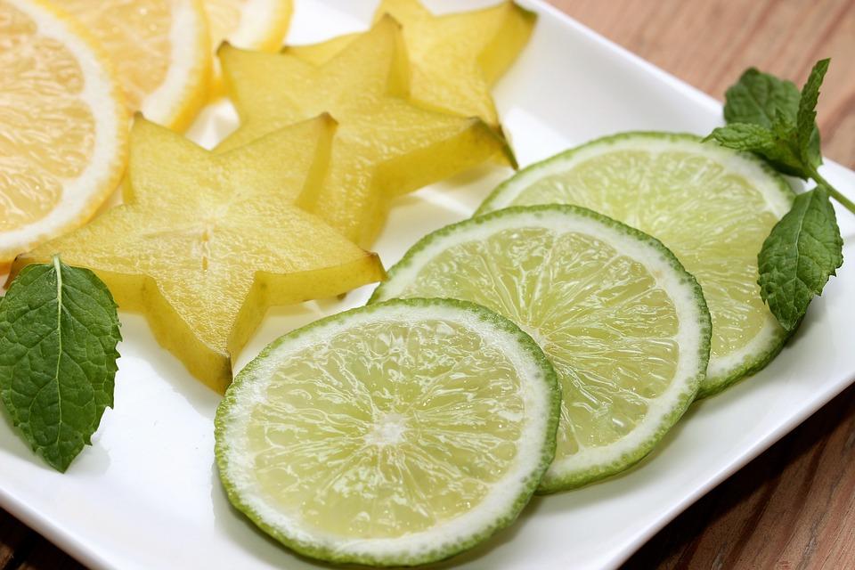Limone, Lime, Star Fruit, Lemon, Mint, Green, Vitamins
