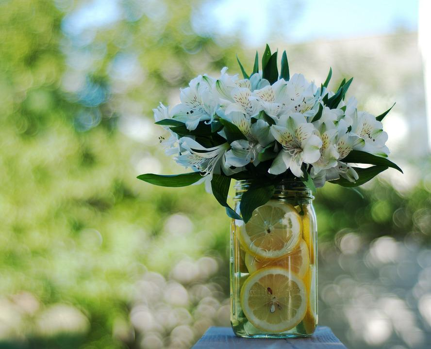 Lemons, Bouquet, Flowers, Sunshine, Yellow, Happy