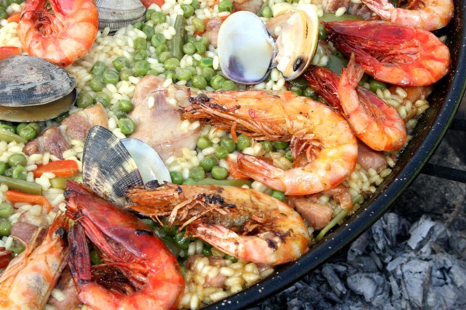 Paella, Lena, Fire, Valencia, Seafood, Mixed, Clams