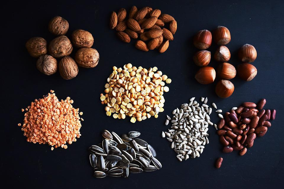 Legumes, Nuts, Health, Hazelnuts, Lens, Beans