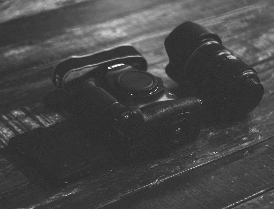 Canon, Camera, Lens, Photography, Black And White