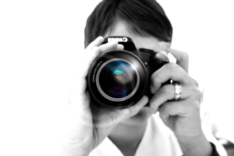 Photographer, Camera, Hand, Lens, Photo, Digital