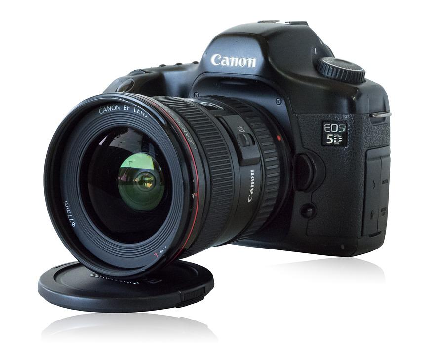 Canon 5d Camera, Lens, Photography, Digital, Isolated
