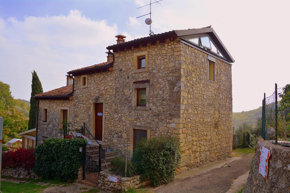 House, Stone, Mountain, Lessinia, Ancient Home