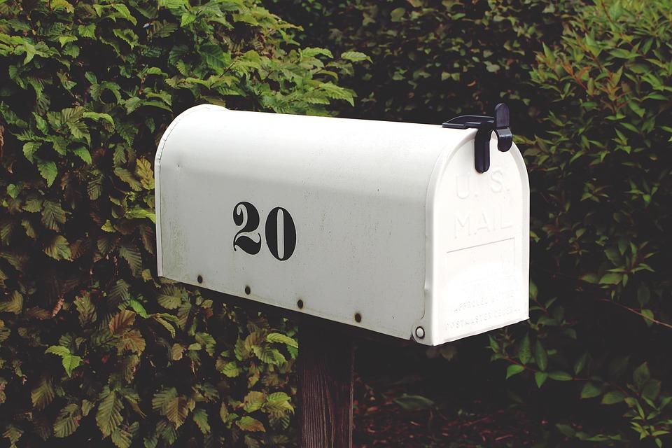 Mailbox, Number, Twenty, White, Letter Boxes