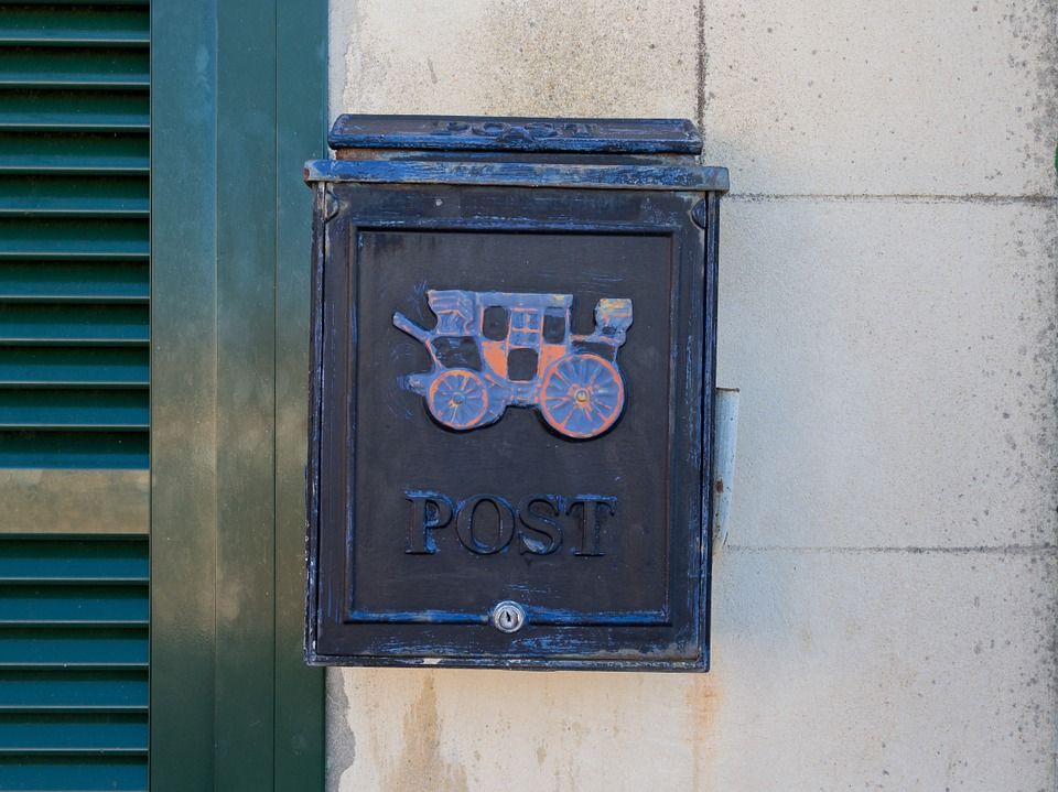 Post, Mailbox, Letter Boxes, Blue, Wall, Home, Window