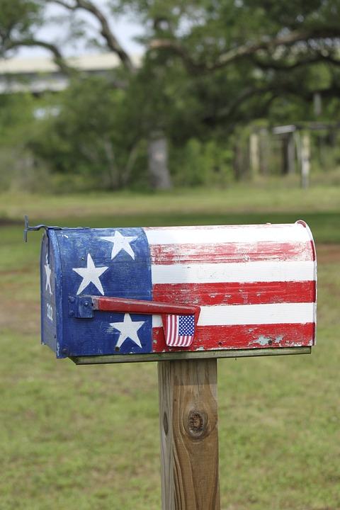 Mailbox, Letterbox, Patriotic, Us, Freedom